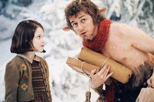 Put a shirt on, Mr Tumnus, it's bloody snowing.