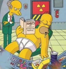 Homer had a questionable work ethic!